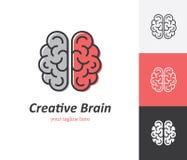 Linjär hjärnsymbol royaltyfri illustrationer
