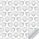 Linjär hjärtamodell Förälskelse Bakgrund för dag för valentin` s med pappers- flip stock illustrationer