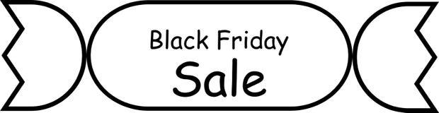Linjär illustration för baner svarta friday försäljning vektor Royaltyfri Foto