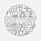 Linjär illustration för historia stock illustrationer