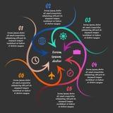 Linjär infographics Royaltyfri Fotografi