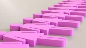 Linjär samling av rosa kvinnasymboler på en ljusa Gray Surface Royaltyfri Illustrationer