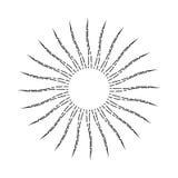 Linjär Sunburst för tappning Arkivbild