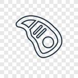 Linjär symbol för biffbegreppsvektor som isoleras på genomskinlig backgro stock illustrationer