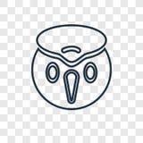 Linjär symbol för Colibri begreppsvektor som isoleras på genomskinlig backg stock illustrationer