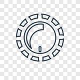Linjär symbol för dunklare begreppsvektor på genomskinlig backgr stock illustrationer