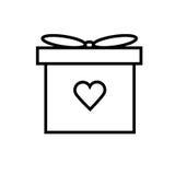 linjär symbol för gåva vektor illustrationer