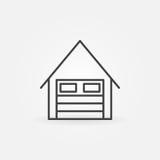 Linjär symbol för garage Royaltyfri Bild