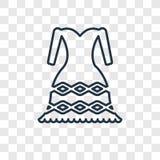 Linjär symbol för kvinnlig modebegreppsvektor som isoleras på transpar vektor illustrationer