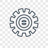 Linjär symbol för myndighetsbegreppsvektor som isoleras på genomskinlig bac royaltyfri illustrationer