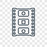 Linjär symbol för Photogrambegreppsvektor som isoleras på genomskinlig bac royaltyfri illustrationer