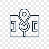 Linjär symbol för punktbegreppsvektor som isoleras på genomskinlig backgro royaltyfri illustrationer