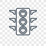 Linjär symbol för stor trafikljusbegreppsvektor som isoleras på transpa stock illustrationer