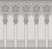 Linjär vektorillustration av den Venetian kolonnaden royaltyfri illustrationer