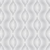 Linjär vektormodell som upprepar kurvvåglinjen skinn utöver varje vektor illustrationer