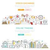 Linjära baner för aktiemarknad vektor illustrationer