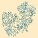 Blommor i japan utformar vektor illustrationer