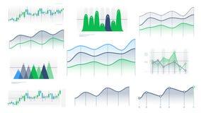Linjära och ljusstakediagram utan data