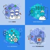 Linjära sammansättningar för nanoteknik royaltyfri illustrationer