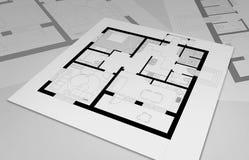 Planlägg lägenheter vektor illustrationer