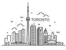 Linjärt baner av Toronto Linje konst Royaltyfria Foton