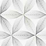 Linj?r vektormodell som upprepar abstrakta blommasidor, gr? f?rglinjen av bladet eller blomman som ?r blom- grafisk ren design f? stock illustrationer