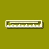 Linjalsymbol Arkivfoto