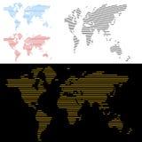 linje översiktsskärmvärld stock illustrationer