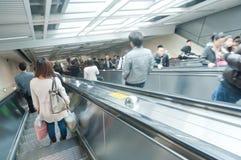 Linje 2 av den Wuhan tunnelbanan Arkivbilder