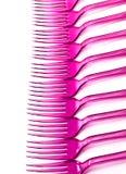 Linje av gafflar Fotografering för Bildbyråer
