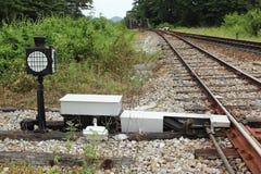 Linje av järnvägen Fotografering för Bildbyråer