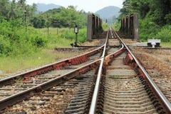 Linje av järnvägen Arkivfoto