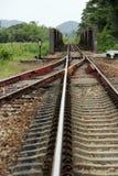 Linje av järnvägen Arkivfoton
