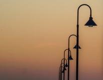 Linje av lampor Arkivfoton