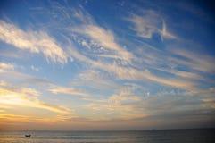 Linje av molnet Fotografering för Bildbyråer