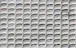 Linje av runda balkonger Royaltyfri Fotografi