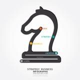 Linje begreppsmalldesign för Infographic affärsstrategi Royaltyfria Bilder