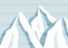 Linje bergbakgrund Royaltyfri Fotografi