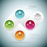 Linje Chain Infographic Royaltyfri Bild