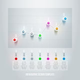 Linje diagram Infographic stock illustrationer
