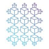 Linje elkraft för kubströmkretsmakt royaltyfri illustrationer