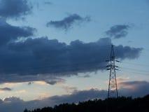 Linje för överföring tower Royaltyfri Foto