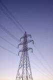 Linje för överföring tower Royaltyfria Foton