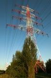 Linje för överföring tower Arkivbild