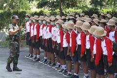 Linje för övningsdisciplinmarsch Royaltyfria Foton
