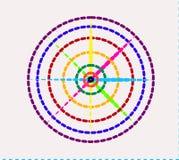 Linje för bakgrund för modellvektorfärg stock illustrationer