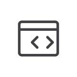 Linje för beställnings- kod enkel symbol stock illustrationer