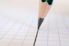 Linje för blyertspennateckning Arkivfoton