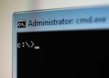 Linje för DOS-betalningspåminnelsekommando i New York arkivbild