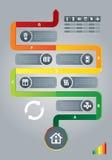 Linje för energieffektivitet Arkivbilder